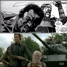 Comic vs show. Was Tyrese in the comic book. lol Hershel lived out Dales life and died Tyrese's death.