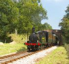 Isle of Wight Steam Railway - Enjoy a steam railway trip in Victorian and Edwardian carriages with Tailored Travel escorted group tours.