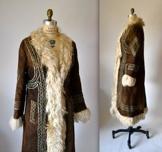 Vintage Embroidered Shearling Afghan Jacket Coat by Hookedonhoney. One of my dream coats!