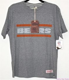 CHICAGO BEARS T-shirt Mitchell & Ness Vintage Football Tee NFL Ditka Men Gray M #MitchellNess #ChicagoBears