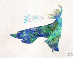 Elsa Watercolor Art Print by Inkist Prints on etsy