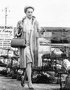 Tippi Hedren in Alfred Hitchcock's The Birds