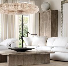 **Couch for Great Room** RH Modern's Cloud Modular Slipcovered U-Chaise Sectional:STOCKED IN 16…