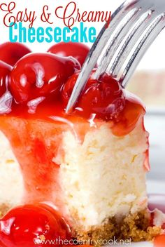 This easy and creamy cheesecake is absolutely delicious! Not a lot of work but a whole lot of taste. You'll want to make two!