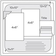 "12x12"" Scrapbook Page Sketches 241-270: Scrapbook Page Sketch 378"