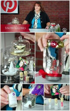 Inspired by Pinterest: Snow Globes - Learn ideas for both waterless and water & how to create a gift card snow globe. #mycraftchannel
