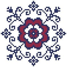 "Cross Stitch Borders Motif ""Filippa's kitchen"" A. Cross stitched flower motif for your tablecloth or kitchen towels. This is the main motif of the kitchen patterns ""Filippa's kitchen"". Biscornu Cross Stitch, Cross Stitch Heart, Cross Stitch Borders, Cross Stitch Flowers, Counted Cross Stitch Patterns, Cross Stitch Designs, Cross Stitching, Cross Stitch Embroidery, Embroidery Patterns"