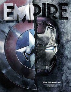 """Guerra Civil: nova capa da Empire, novas fotos, Pepper Potts, Hulk e um """"final…"""