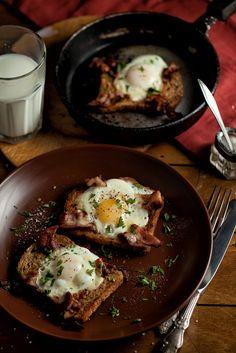 [36/366] Eggs And Bacon In Bread, via Flickr.