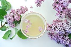 Lilac Margaritas  Here's a floral twist on a Cinco de Mayo favorite. We know that nothing quenches a springtime thirst quite like a freshly shaken margarita, but why not go a ste