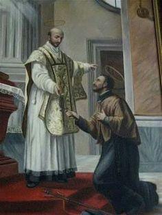 """""""Francisco, ¿a quien sirves? Sirves al mundo que es un traidor, que promete y no cumple. Con todo, supongamos que cumpliera: ¿cuánto tiempo duran los bienes que él promete? ¿Pueden durar acaso más que la vida? Y después de la muerte, ¿de que servirán sino te salvas?""""   San Ignacio de Loyola a Francisco Javier"""