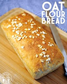 Oat Flour Bread - This delicious bread is made with homemade oat flour bread, and old fashioned oats for a healthy bread! Oat Flour Bread - This delicious bread is made with homemade oat flour bread, and old fashioned oats for a healthy bread! Oatmeal Flour, Oatmeal Bread, Honey Oat Bread, Oat Flour Recipes, Bread Recipes, Oat Flour Tortilla Recipe, Gluten Free Oats, Gluten Free Baking, Oat Bread Recipe Gluten Free