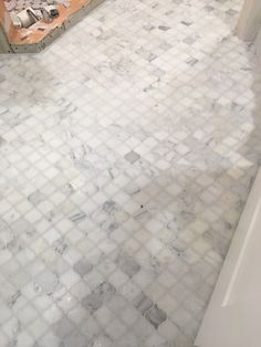 www.tile.bar Carrera arabesque bathroom floor tile.