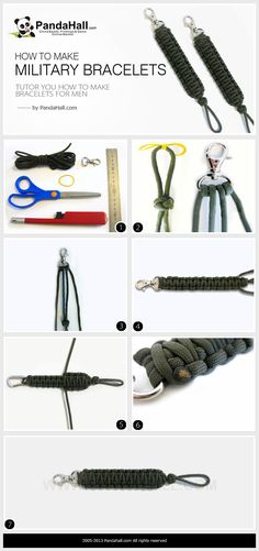 How To Make Military Paracord Bracelets Paracord Bracelets, Bracelets For Men, Jewelry Bracelets, Jewellery, Military Crafts, Diy Projects For Men, Craft Online, Paracord Projects, Diy Crafts To Sell