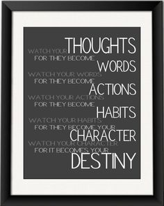 Watch your thoughts...  positive thinking digital art download