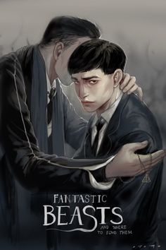 harry potter, credence barebone, and hp image