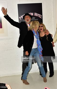 Mick Fleetwood, Christine McVie and Stevie Nicks attend Stevie Nicks' '24 Karat Gold The Self Portrait Collection' Exhibition Unveiling at Morrison Hotel Gallery on October 9, 2014 in New York City.