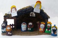 Nativity Set Finger Puppets by sanctusstitches on Etsy