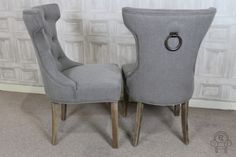 This French inspired dining chair with metal ring comes from our large range of upholstered furniture. Other colours and complementing styles available...