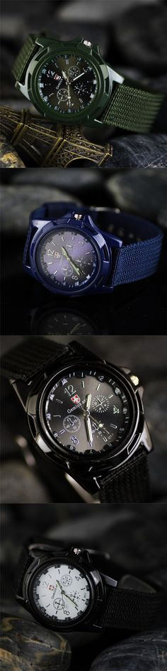 reloj hombre New Brand Sport Men's Quartz Watch Leather Nylon Military Army watches Men Outdoor Casual Clock Relogio Masculino