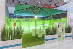 R+T Exhibit 2015 Stuttgart - Uhlmann Umbrella Commercial Umbrellas, 20 Years, Exhibit, Oasis, Germany, Outdoor, Stuttgart, Outdoors, Outdoor Games