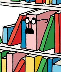 Nos gusta el humor en la literatura. Necesitamos mucho humor en la lectura y en nuestras vidas (ilustración de Leon Edler)