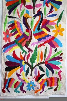 Mara Hoffman Techno Animal Print: Borrowed from Otomi Embroidery