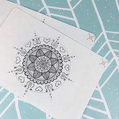 Full Page A5 Mandala Coloring Sticker by BohoBerryPaperie on Etsy