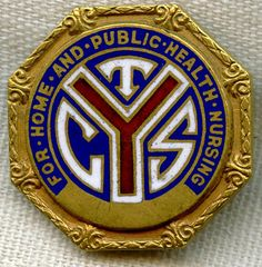 1920s Numbered Nurse Graduation Pin from Chicago Training School for Home and Public Health