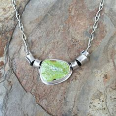 Gapeite and Silver Necklace with Handmade by coldfeetjewelry