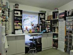 CRAFTY STORAGE: Joan's craft room