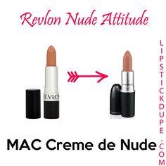 MAC Creme de Nude / Revlon Nude Attitude | MAC Lipstick Dupes We Can't Live Without, check it out at http://makeuptutorials.com/mac-lipstick-dupes-makeup-tutorials