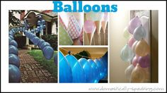 DIY:: Kid's Birthday Balloon Projects !!