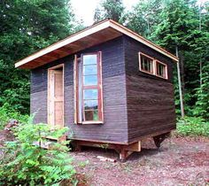 DIY cabin... I want to make something like this! would be great to help the homeless..if I had land and money I would build thousands..