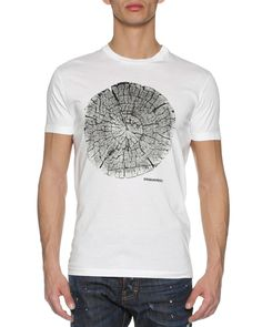 Wood Log T-Shirt, White