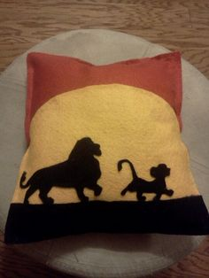 The Lion King Felt Pillow