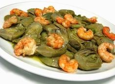 Día a día: Salteado de Alcachofas con Gambas What To Cook, Green Beans, Tapas, Picnic, Food And Drink, Healthy Recipes, Homemade, Meat, Cooking