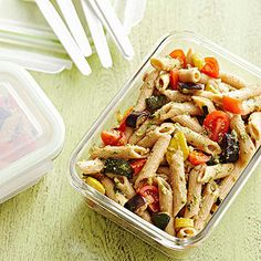 Roasted Vegetable Pasta Salad with Walnut Pesto From Better Homes and Gardens, ideas and improvement projects for your home and garden plus recipes and entertaining ideas.