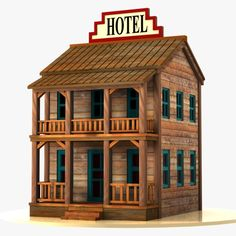 Wild West Buildings Models and Textures Bird House Plans Free, Old Western Towns, Old West Town, Train Miniature, Christmas Village Display, Store Layout, Old Country Stores, Box Houses, Model Trains