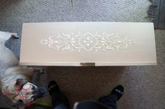 Stenciled Dresser ~ Wood Icing- before painting