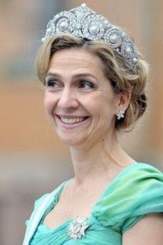Princess tiaras - Tiaras of Spanish Royals at Royal Wedding- Infanta Cristina.jpg