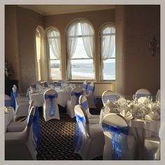 Royal Blue Sashes at the Grand Hotel Tynemouth.