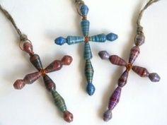 Paper beads crosses