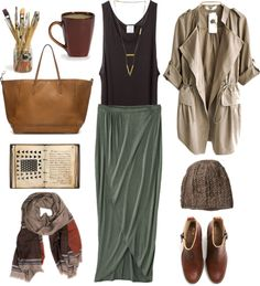 moonandtrees:  Untitled #304 by the59thstreetbridge featuring a black notebookBase Range bamboo shirt / Brown coat / Mossimo hi lo skirt / Acne Studios leather ankle boots / Zara brown purse / Mi Asunta long multi strand necklace / Maiyet cashmere shawl / Handmade mug / Black notebook / Knit cap MAIAMI, $105