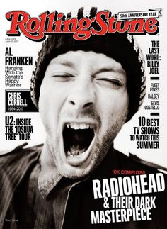 Radiohead on the June 15, 2017 cover.
