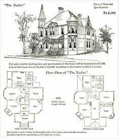 Story Drawing Fairy Tale Home Plans Luxury Cottage Victorian House Plans, Vintage House Plans, Victorian Homes, The Plan, How To Plan, Dream House Plans, House Floor Plans, Coraline, 1940s Home