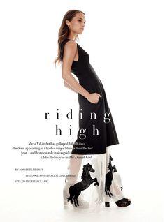 """Riding High"" Alicia Vikander for Harper's Bazaar UK January 2016"
