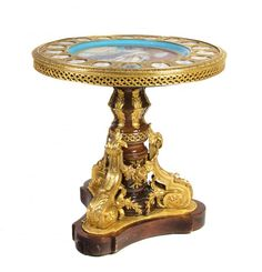 796: A Sevres Style Porcelain and Gilt Metal Mounted Gu : Lot 796