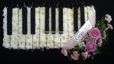 Piano Octave Funeral Flowers Monica F Hewitt Florist Sheffield Grave Flowers, Cemetery Flowers, Church Flowers, Funeral Flowers, Funeral Floral Arrangements, Flower Arrangements, Funeral Wishes, Funeral Sprays, Funeral Tributes