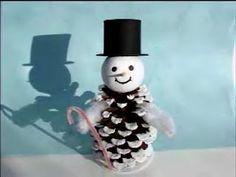 Pine cons snowman